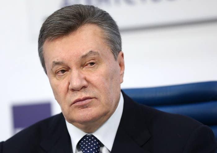 Ukraine's former president Viktor Yanukovych.