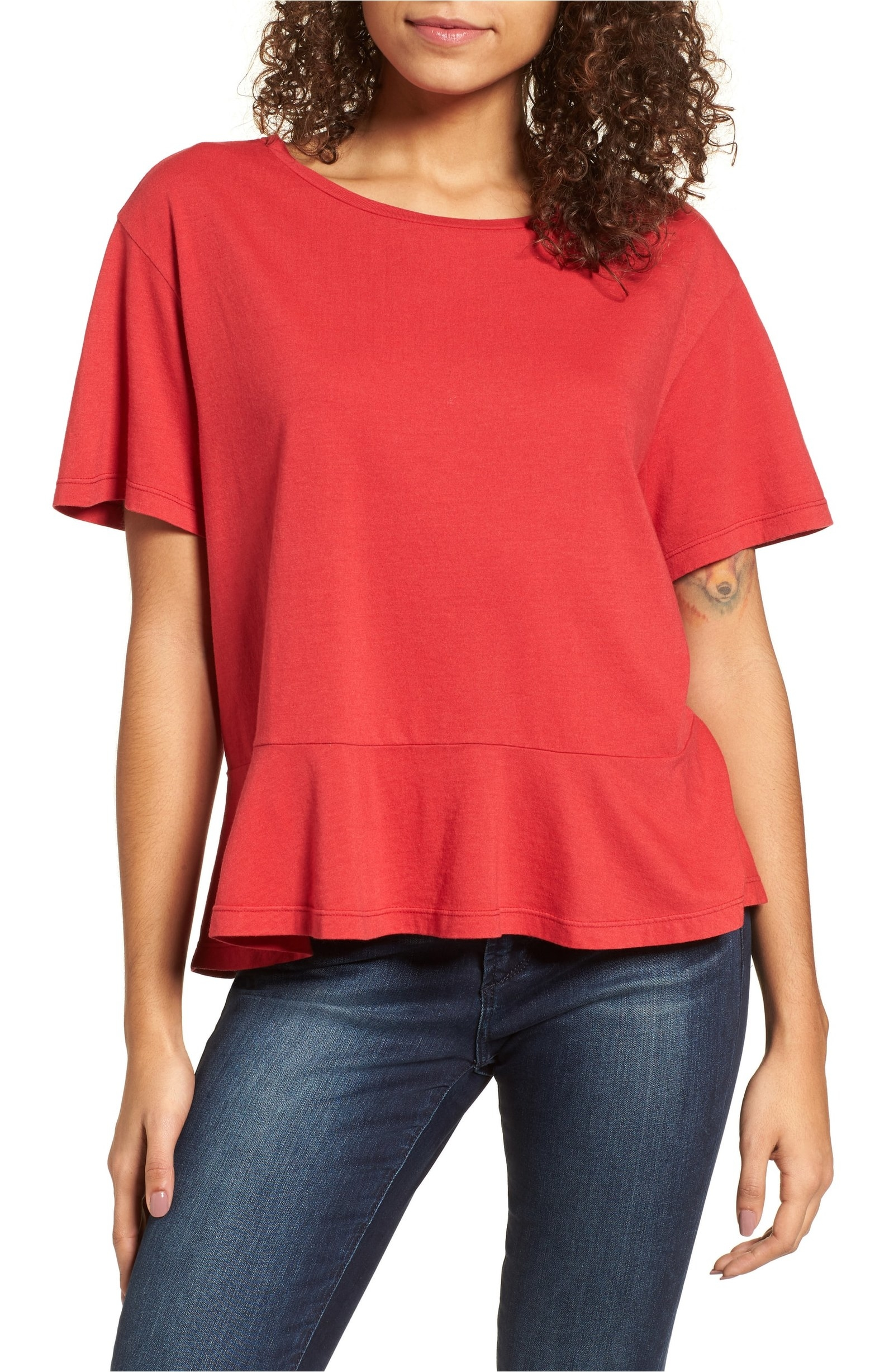 """Promising review: """"This is a very cute tee! It's comfy and slightly loose-fitting. Plus, the fabric is soft and the color is just as pictured."""" —JMoen Price: $9.90 (originally $22, available in sizes XXS-XXL and in six colors)"""