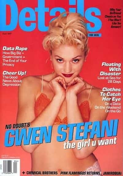 Gwen Stefani on the cover of Details magazine in 1997.