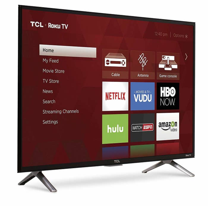 """Get a 28.9"""" x 17.1"""" TV for $132.28 ($67.71 off the list price; available in four other sizes)."""