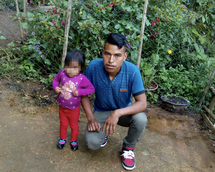Mario Perez-Domingo and his daughter in Huehuetenango, Guatemala.