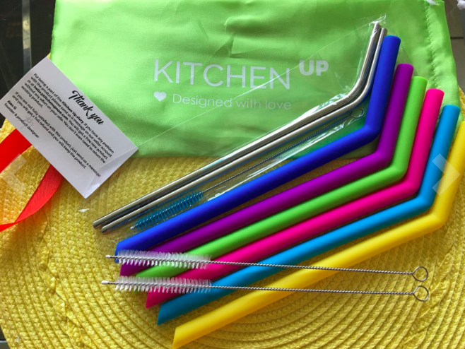 "Promising review: ""These are perfect for my large 32 ounce Titan cup. Easy to clean, no weird smells like some silicone. The straw cleaners that came with are an added bonus. I have another brand at home that is nice, but this is perfect."" —Kindle Customer Price: $13.95"
