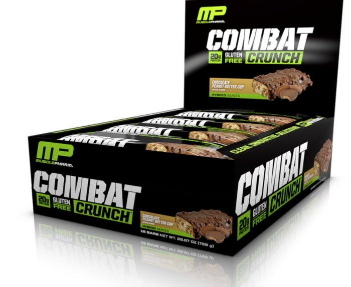 Coming in nine delicious flavors, the Combat Crunch Bar is a great source of protein, boasting 11g. Unlike other protein bars, these are baked, so when you're eating them, they taste like a cookie. Honestly, what more could you want?