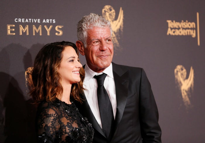 Anthony Bourdain and Asia Argento in September 2017.