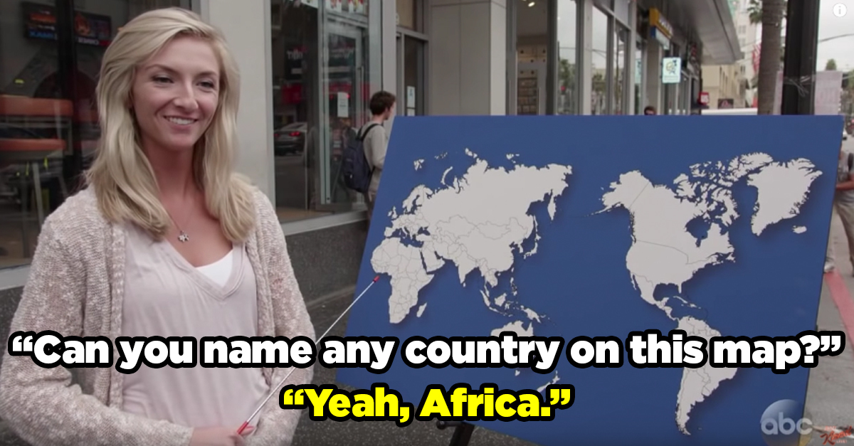 Jimmy Kimmel Asked People To Name ANY
