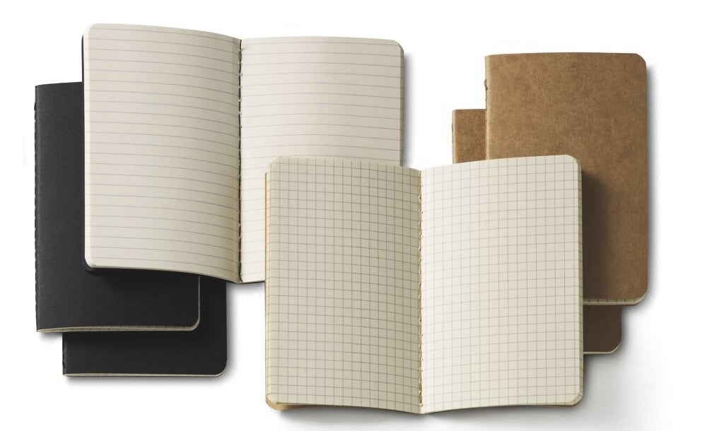 The pack of notebooks with line and grid pages