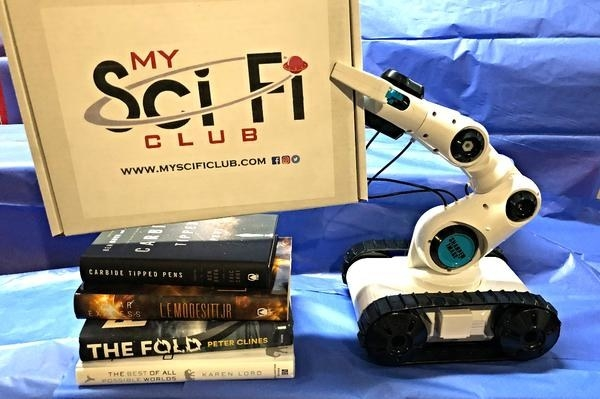 The box with four science fiction books