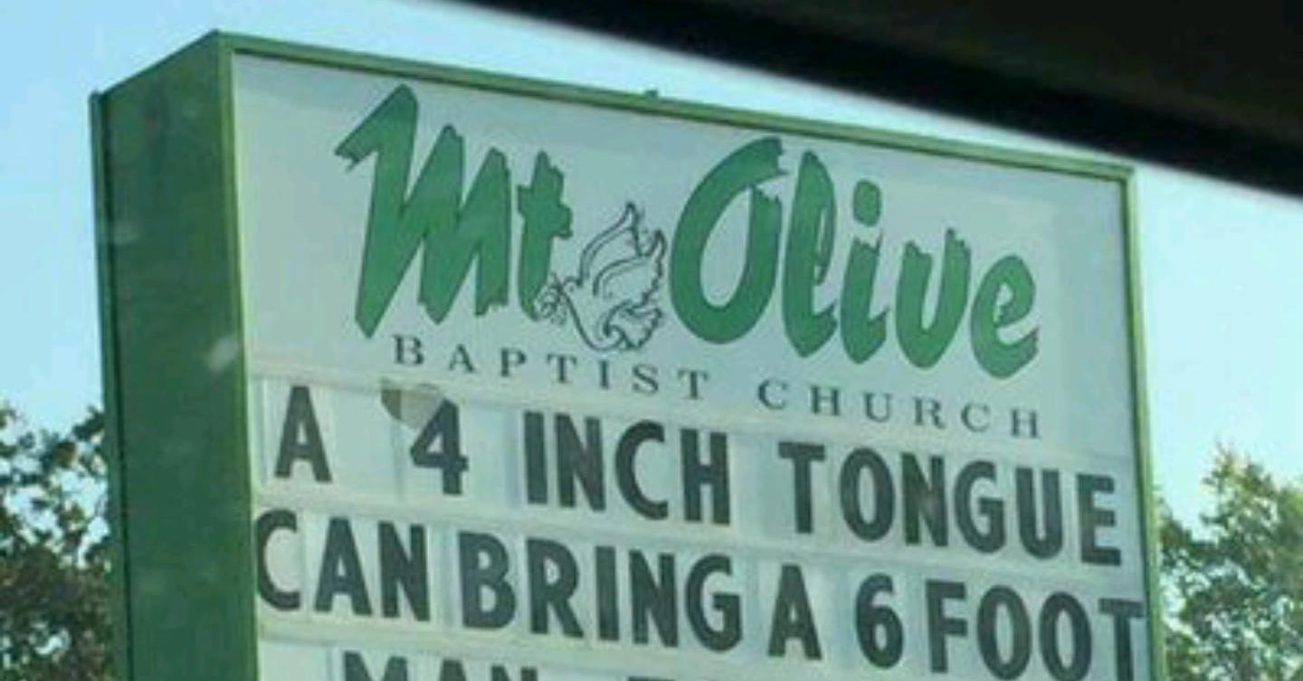 50 hilarious church signs thatll keep you sinfully laughing for hours