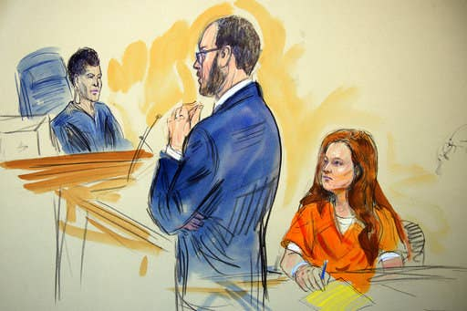 Maria Butina in court Wednesday.