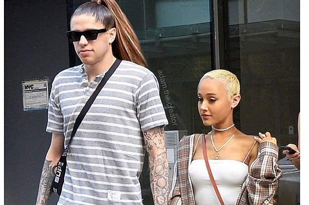 I'm Gay Gasping At This Picture Of Ariana Grande And Pete Davidson With Their Hair Swapped