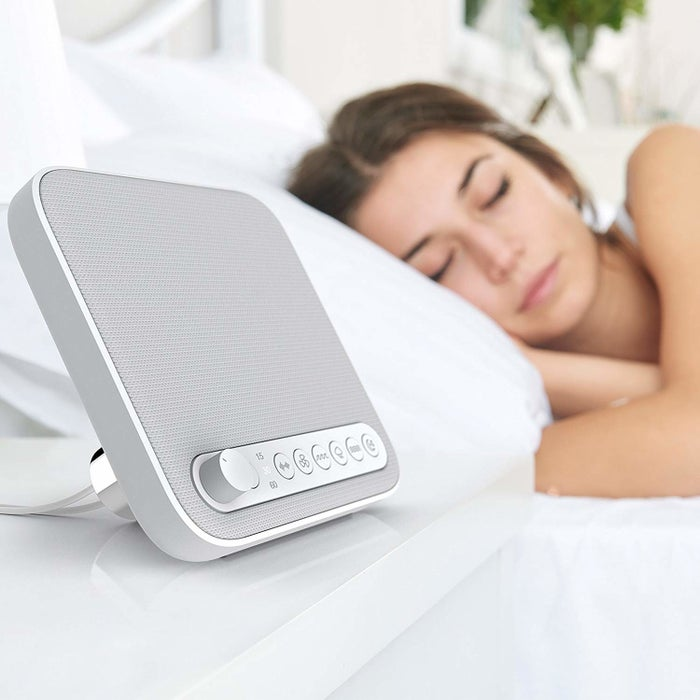 """Promising review: """"This is very sleek, modern, and the sound is great. I was interested in it specifically for the extra USB outlet to charge my iPhone (a must for most bed-side devices). This has been a great purchase and I am very pleased with the product."""" —GbulldogGet it from Amazon for $29.99."""