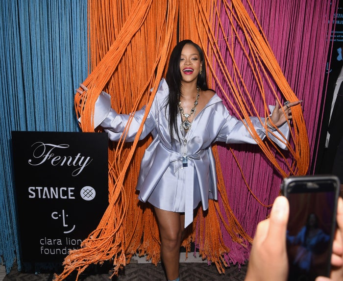 According to eight sources close to the project — quoted anonymously by Rolling Stone — over 500 records have been submitted for an album that will explore Rihanna's Caribbean roots. Two of those sources also say the singer has been simultaneously working on a separate album more aligned with her usual pop.