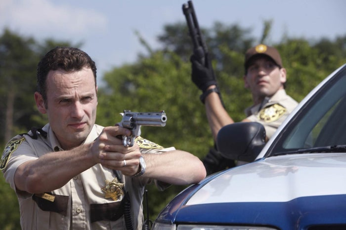 Andrew Lincoln as Rick Grimes in Season 1.