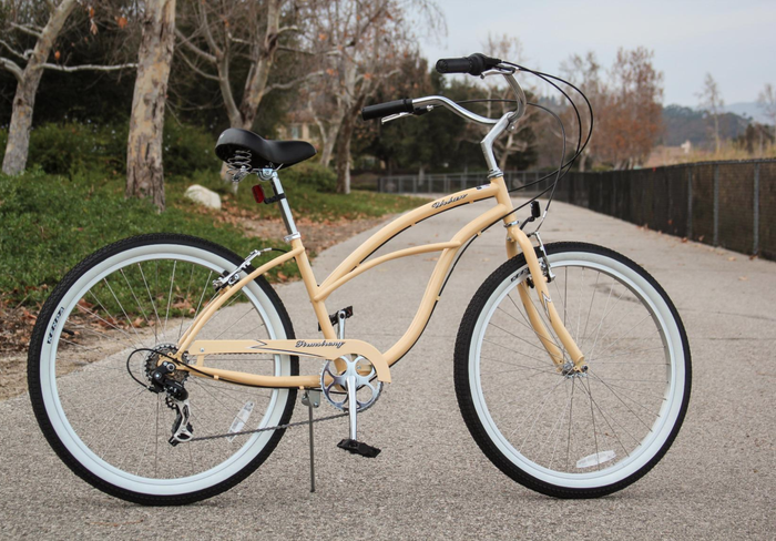 """Sizes: 24""""-26"""" Promising review: """"I love my new bike! The seat is very comfortable, the color is beautiful, and being able to sit upright (rather than bending over to reach the handlebars) is great. My back and arms are no longer sore after a ride! This is the most comfortable bike I've ever had."""" –Michelle L. KendrickPrice: $199.99 (available in 43 colors and in 1-, 3-, and 7-speeds, expert assembly available)"""