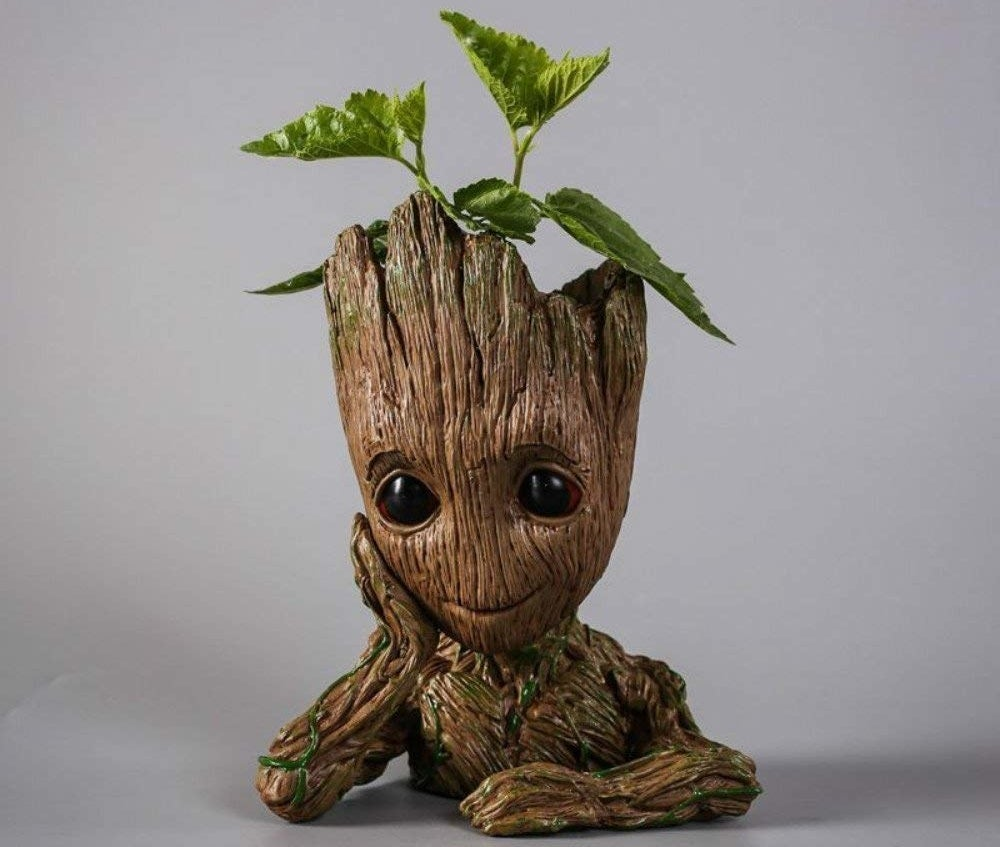 """Promising review: """"This is awesome!! It looks great and everyone asks where I got it. Best Groot product I've come across. It's perfect for a tiny plant. Has a hole going down the neck to the bottom of the base for water to drain out so it doesn't rot."""" —Mr SPrice: $7 (originally $24.95)"""
