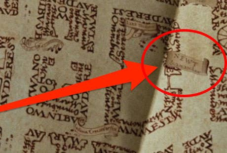 Harry Potter Karte Des Rumtreibers Tattoo.19 Details From The Harry Potter Movies That Ll Make You