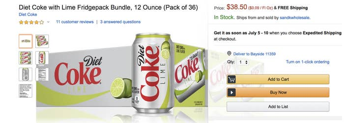 is diet coke with lime being discontinued