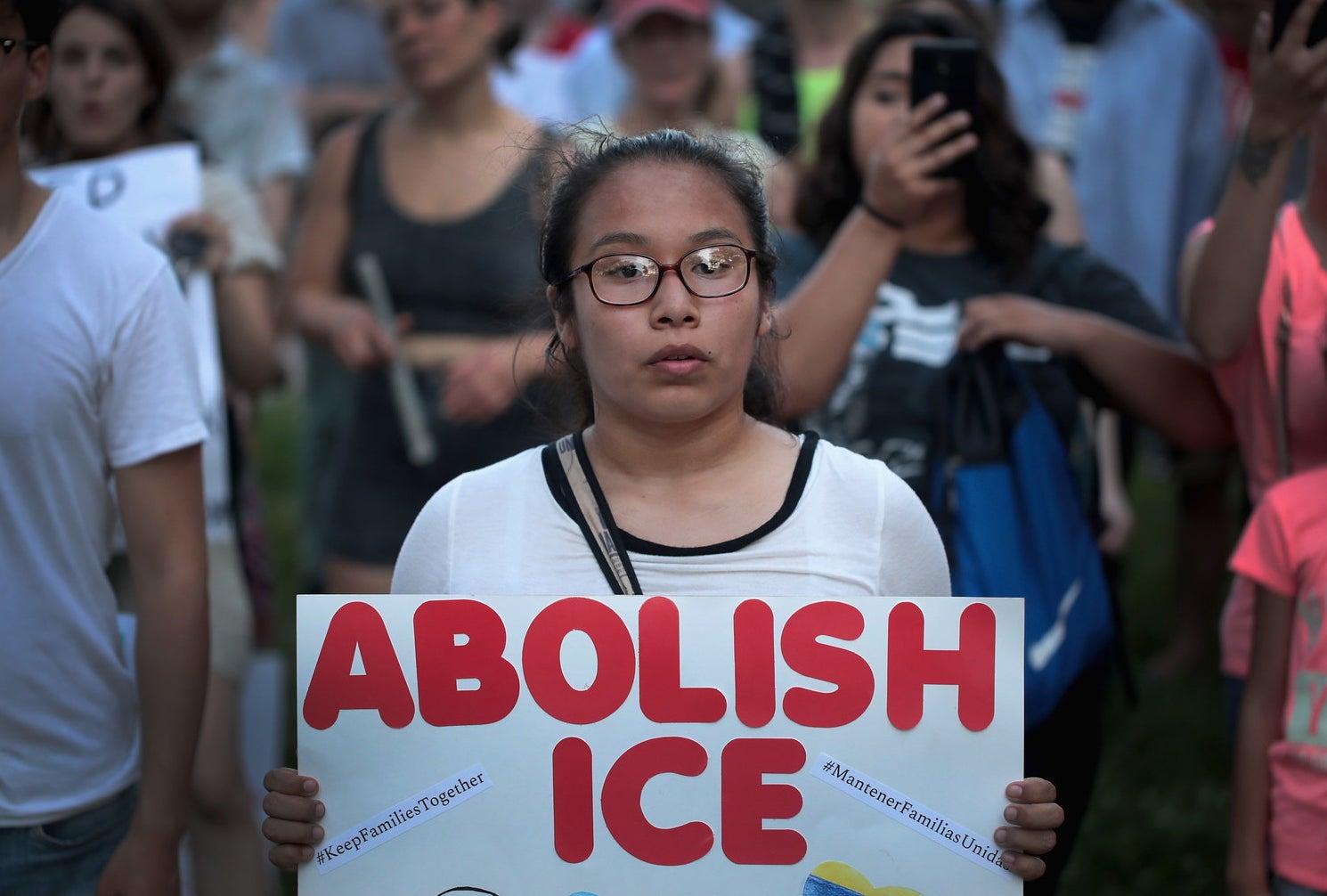 Demonstrators on June 29 in Chicago.