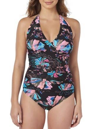 5202575a9cbe9 A classic halter bathing suit you can wear in total comfort on your next  vacation.