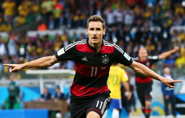 Klose, who represented Germany in the World Cup from 2002-2014, scored 16 goals over the 24 matches he played.