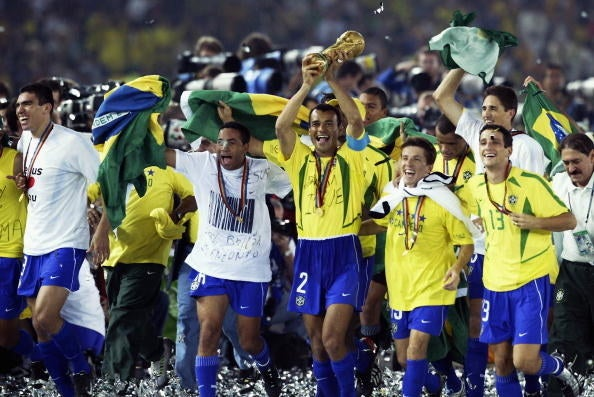 Brazil takes the lead with five titles, followed by Germany and Italy with four, Argentina and Uruguay with two, and France, England, and Spain with a single win.