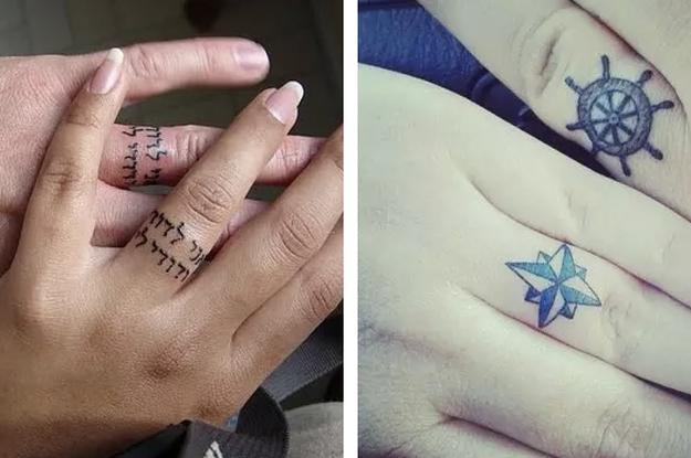 21 Tattoo-Ideen für Paare, die keinen Ehering tragen wollen