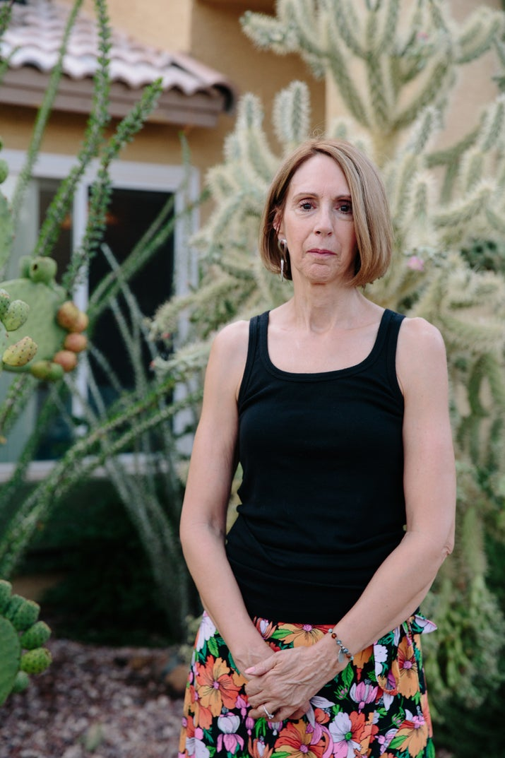 Cathy McIvor, sister and legal guardian of Maryann Stallone, outside her home in Arizona.