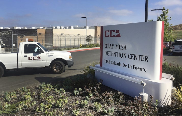 A 2017 file photo of the Otay Mesa detention center in San Diego, where at one point E. was detained.