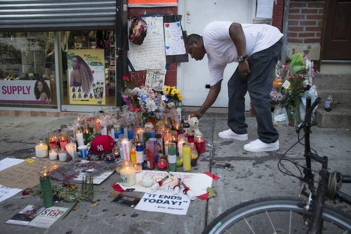 A memorial for Garner in 2014.