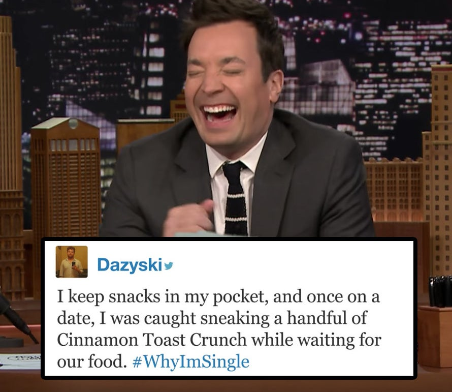 19 Funny And Too-Real Tweets Jimmy Fallon Read About Why People Are Single