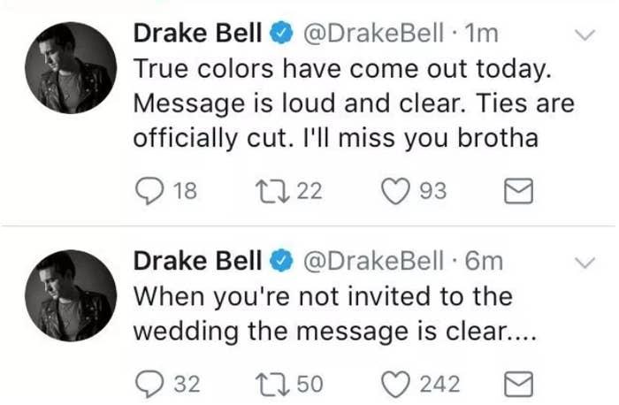 Drake Bell Wedding.Drake Bell Opened Up About That Wedding Drama With Josh Peck