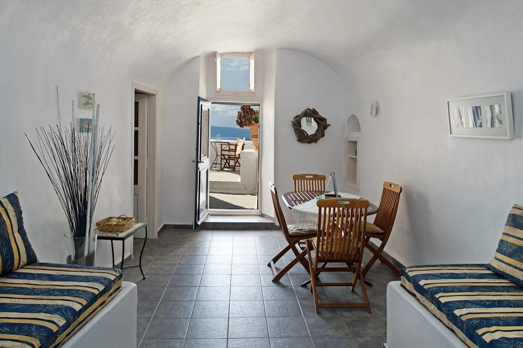 When visiting Santorini I WILL reenact scenes from Mamma Mia, singing my heart out and taking in the glorious view. This is an absolutely gorgeous cliffside apartment. #swoon