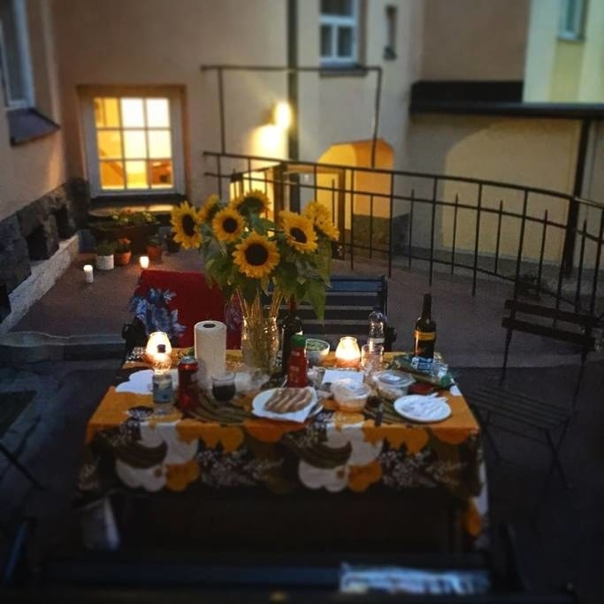Oh my WOW. Candlelit dinner right outside this Finnish sweet spot? Doesn't get much better than that, folks.