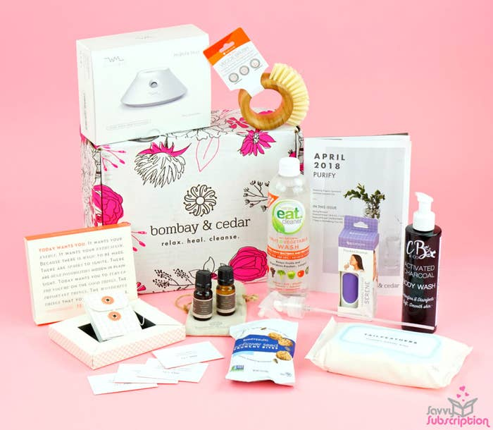 82c65ee4e95f Bombay & Cedar's beauty and wellness subscription box comes packed with  vegan and cruelty-free goodies so you can discover new, amazing products  and feel ...