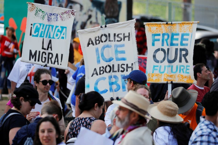 A recent protest in San Diego against Immigration and Customs Enforcement.