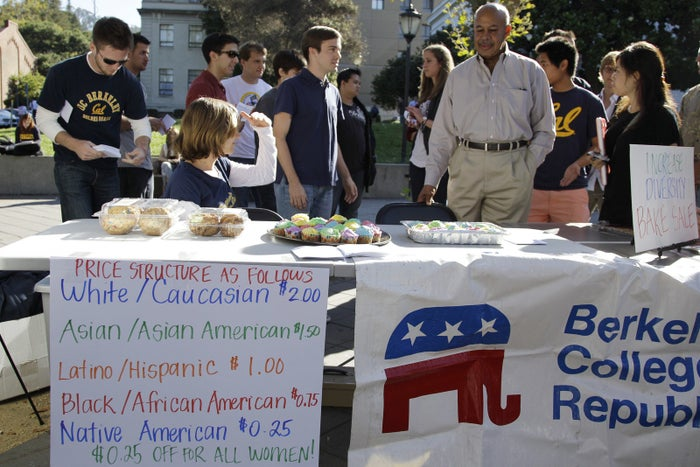 A bake sale led by the Berkeley College Republicans in 2011.