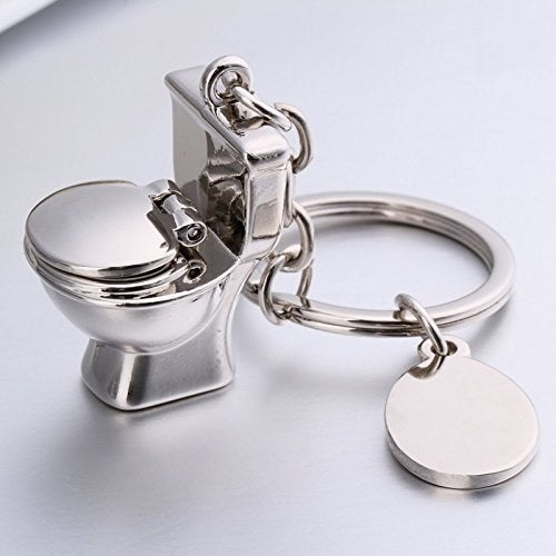 """Promising review: """"Really cute keychain with a quirky miniature design. I got it for my work bathroom key. The metal is not as shiny as in the pictures but it does look like good quality. It doesn't have that cheap look many metal keychains have. I've dropped it quite a few times and so far no damage. I get compliments all the time."""" —VeronicaGet it from Amazon for $6.99."""