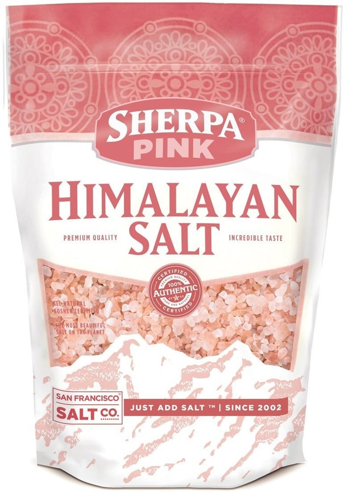 """Promising review: """"Until I tried pink salt, I never realized regular salt is so harsh. The flavor of this salt is mild and subtle, and I use this stuff in everything. It makes everything I prepare taste better, and people compliment the flavor all the time."""" —Brett S.Price: $8.49 for a single two-pound bag and $16.99 for a pair of two-pound bags."""