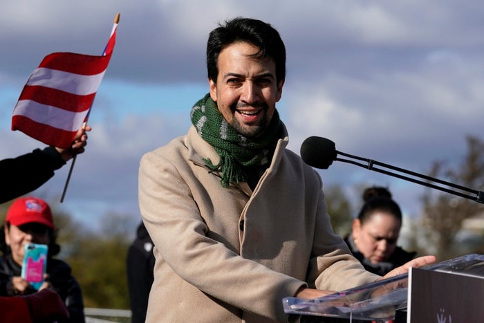 Lin-Manuel Miranda in November drew attention to the humanitarian and natural disaster crisis in Puerto Rico.