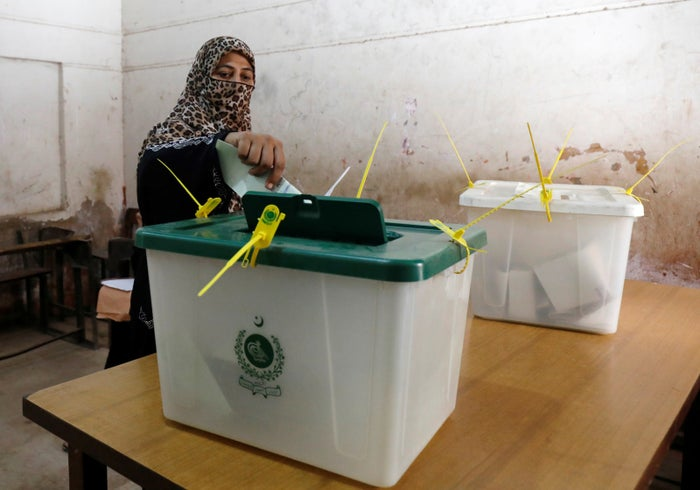 """Pakistan only formally ended the de facto ban on women voting in October last year. Women have often remained unable to vote thanks to local and societal traditions and pressures, a Human Rights Watch report noted this year. Ahead of the election, officials have said at least 10% of the votes cast must be from women — otherwise the region's results will be invalidated. But there have been some reports of locals attempting to prevent women from voting. BBC Urdu reported that men in Chakwal's Dharnal area turned women away, telling the reporter: """"It is un-Islamic for women to vote."""""""