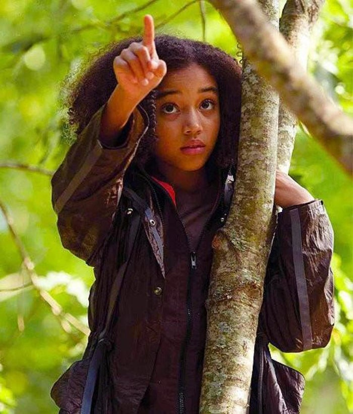 Stenberg as Rue in The Hunger Games.