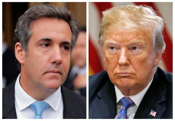 Michael Cohen and President Donald Trump