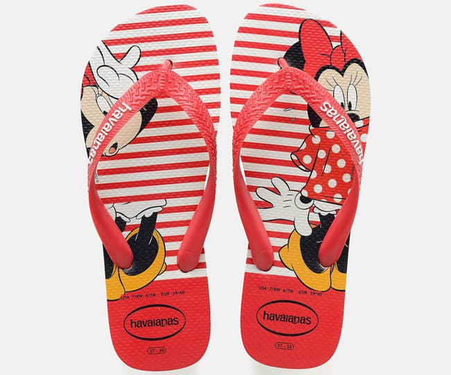 bdf27b362ce7f A pair of Havaianas Minnie Mouse flip-flops to make your poolside fashions  oh-so FAB.