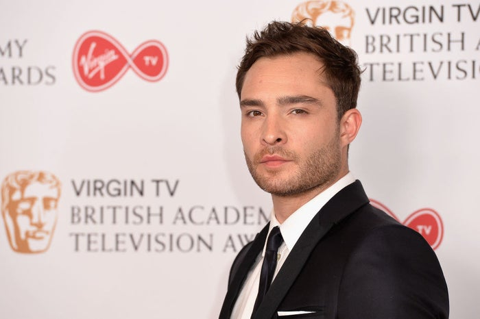 Ed Westwick at the Virgin TV BAFTA Television Awards on May 14, 2017, in London.