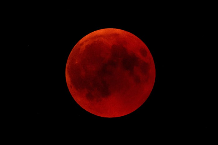 A blood moon rises above Germany.