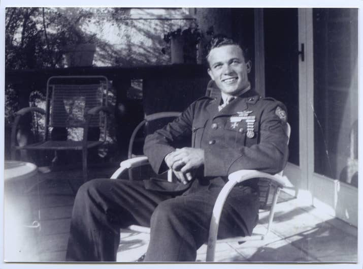 Bowers in his WWII uniform.