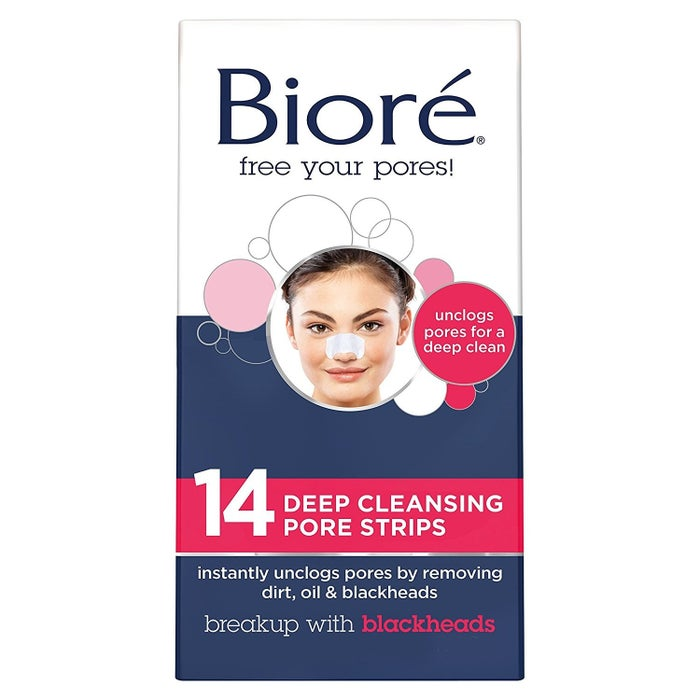 These original Bioré strips are known for being THE premier blackhead removers on the scene and have been on the market for decades. And it's because they don't disappoint! So how does it work? Wash your face, wet your nose, peel off the plastic liner on the strip, and stick it on. In about 10 to 15 minutes, the strip will dry up and feel stiff. Then, just slowly peel it off and VOILÀ! What are the results? The deep-rooted dirt, pesky oil, and annoying blackheads buried within your nose will come to the surface —without irritating your skin in the process.
