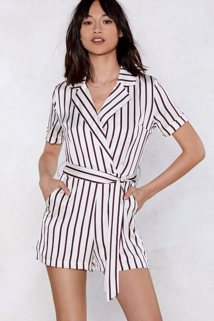 fbe53ae42ff A stylish wrap in a striped design to give your work wardrobe something fresh  and new.