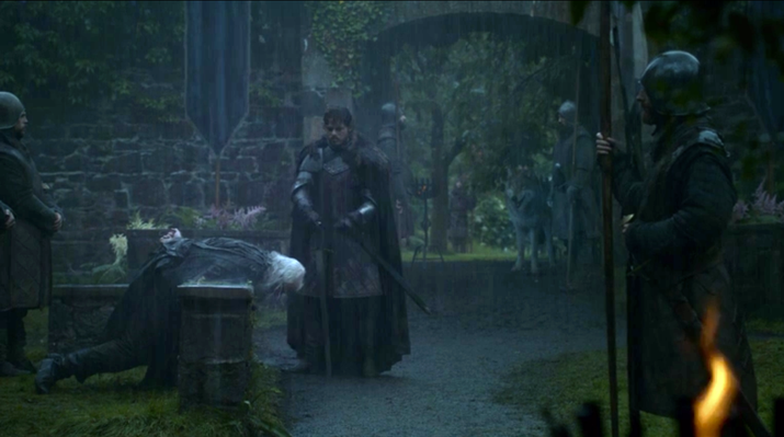 Lord Karstark is sentenced to death for treason, fwiw.