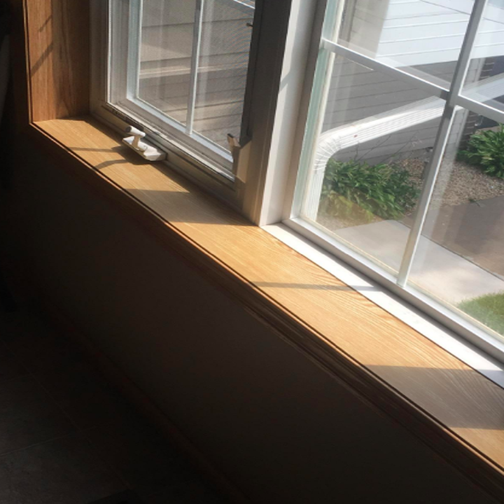 window sill looking fresh and convincingly wood